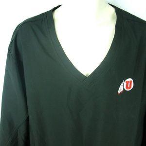 University of Utah Utes L XL Black Pullover Jacket
